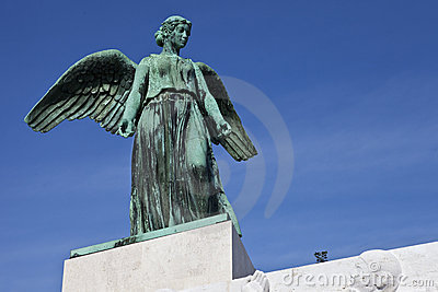 Angel Statue on the World War 1 Maritime Monument