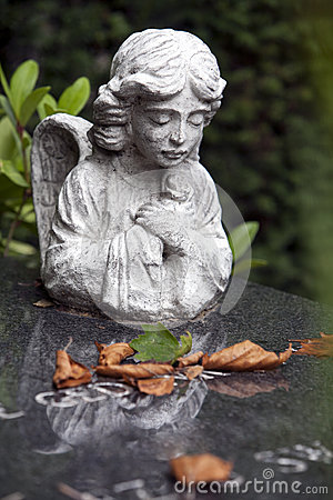 Angel on a tombstone
