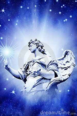 Free Angel Touching Star Royalty Free Stock Photo - 8947725