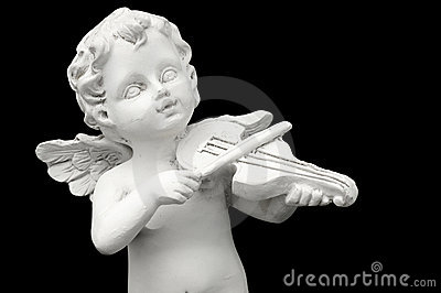 Angel and Violin.
