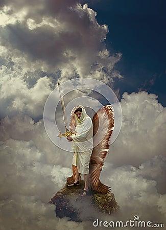Free Angel Warrior Royalty Free Stock Image - 70058576