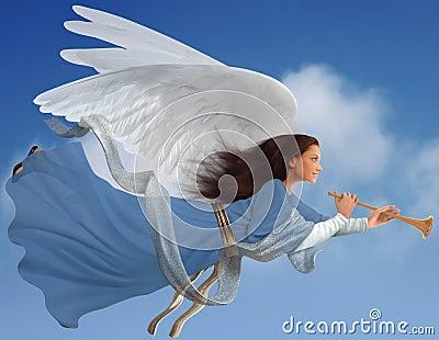 Angel on white