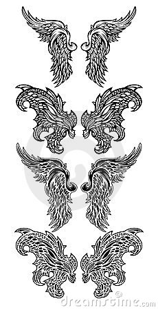 Angel Wings & Demon Wings vector illustrations