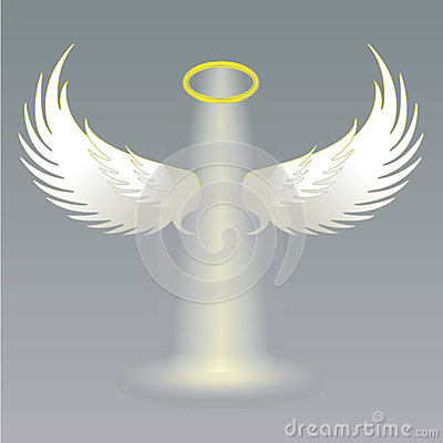 angel wings and golden halo stock vector image 51158135 Globe Logo Vector Globe Vector Drawing