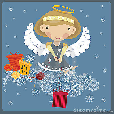Free Angel With A Gift Royalty Free Stock Image - 17508956
