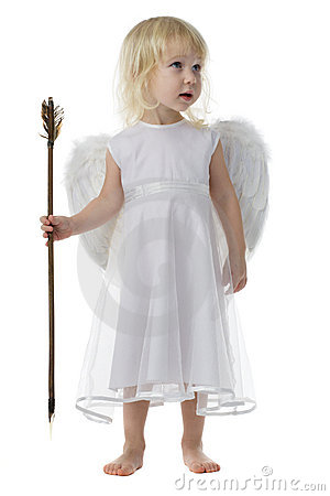 Free Angel With Cupid Arrow Royalty Free Stock Images - 4040499
