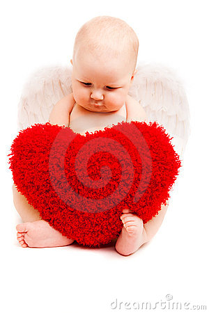 Free Angel With Heart Stock Images - 12070754