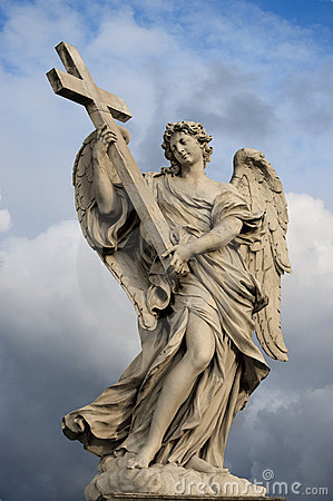 Free Angel With The Cross Stock Photography - 22487482