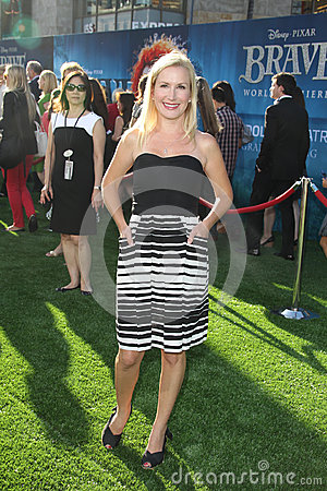 Angela Kinsey arrives at the  Editorial Stock Image