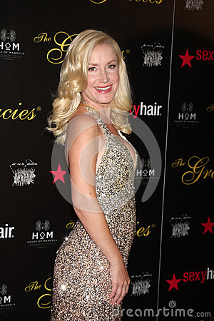 Angela Kinsey arrives at the 37th Annual Gracie Awards Gala Editorial Image