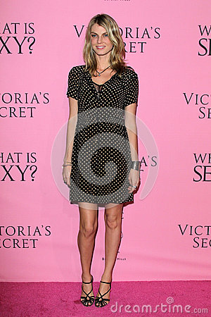 Angela Lindvall arrives at the Victoria s Secret What Is Sexy? Party Editorial Stock Image