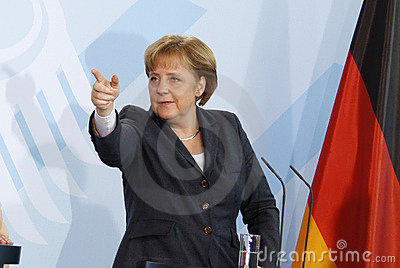 Angela Merkel Editorial Stock Image