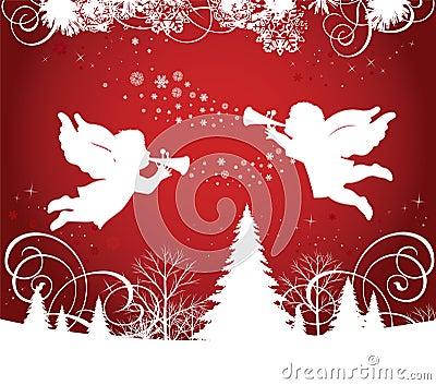 Christmas Angels Clipart  Illustrations  Creative Market