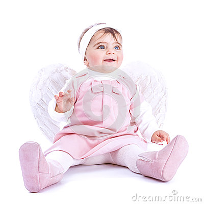 Free Angelic Baby Stock Photography - 38587342