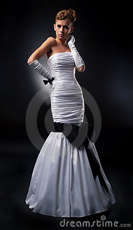 Free Angelic Bride Woman In Bridal Dress Stock Photos - 22543013