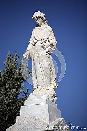 Angelic Cemetery Statue