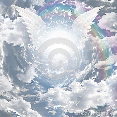 Free Angelic Presence And Tunnel Of Light Stock Images - 33823784