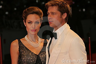 Angelina Jolie and Brad Pitt Editorial Photo