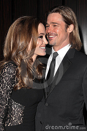 Angelina Jolie, Brad Pitt Editorial Photography