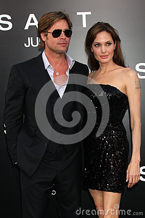 Angelina Jolie,Brad Pitt Editorial Stock Image