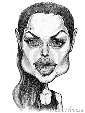 Angelina Jolie Caricature Stock Photos - Image: 18956743