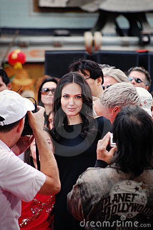 Angelina Jolie at the DVD launch of Kung Fu Panda. Editorial Photo