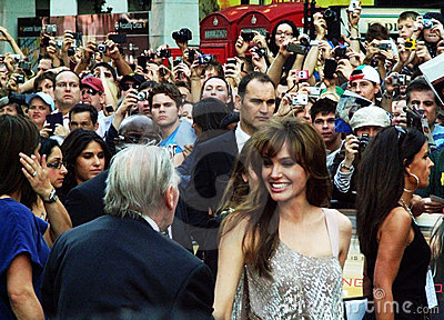Angelina Jolie At Salt Premiere Editorial Photo