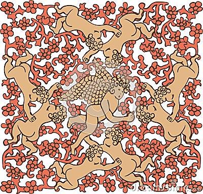 Angels in ceramic tile