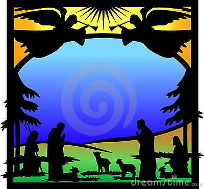 Angels Nativity Silhouette/eps