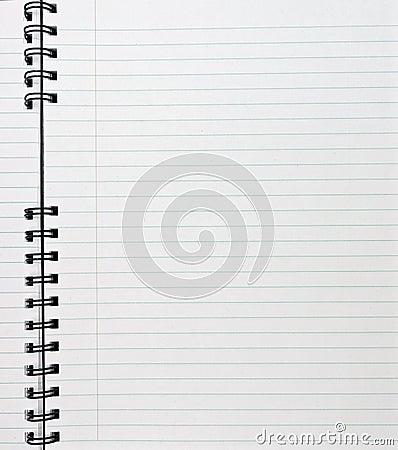 Angeordnetes Notizbuch