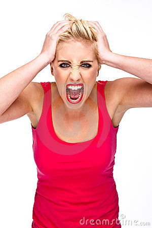 Anger, Frustration - Woman Screaming at Camera