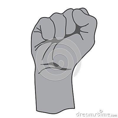 Anger hand icon