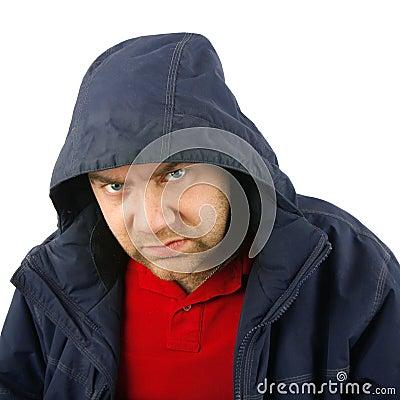 Anger man portrait
