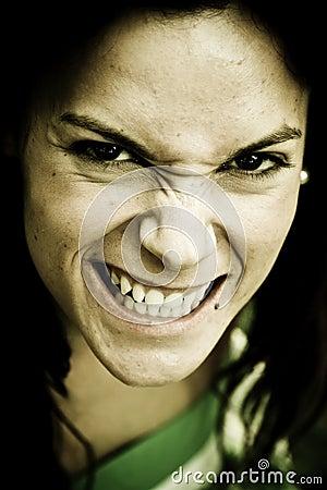 Anger woman