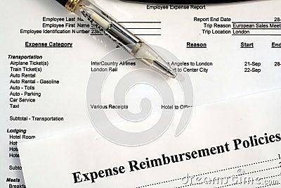 Angestellt-Unkosten-Report-u. Unkosten-Vergütung-Politik