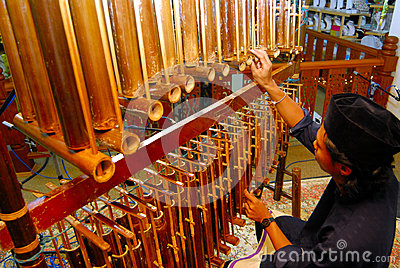 Angklung musical insrtument Editorial Photo