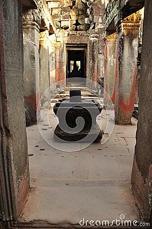Free Angkor, Cambodia. Preah Khan Temple Shiv Linga Royalty Free Stock Photography - 50415047