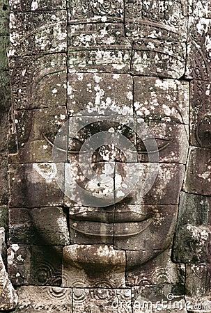 Free Angkor Stone Face Stock Photography - 1078762