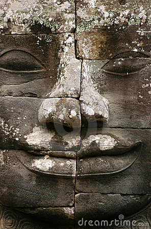 Free Angkor Stone Face Stock Images - 827854