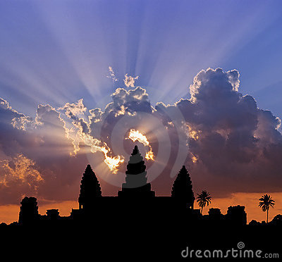Free Angkor Sunset Stock Photography - 12154742