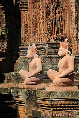 Free Angkor Temple Banteay Srey Stock Photography - 8164612