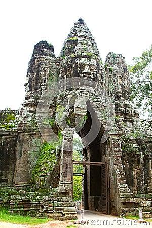 Angkor Thom gate.