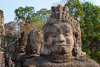 Angkor Thom South Gate faces 2