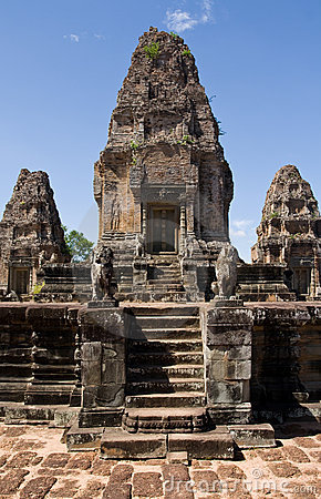 Angkor Thom Steps Portrait