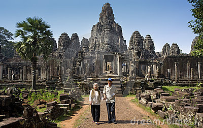 Angkor Wat - Bayon Temple - Cambodia Editorial Photography