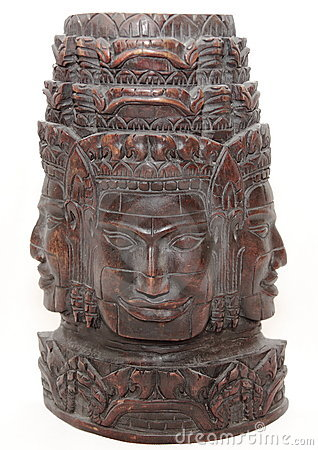 Asian Cambodian sculpture handmade