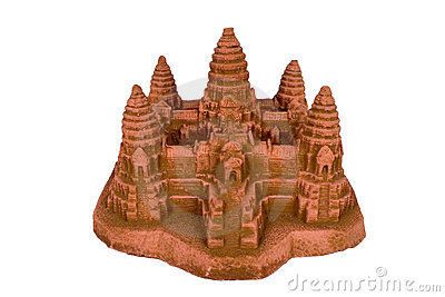 Angkor Wat replica with clipping path