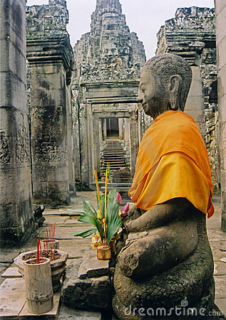 Free Angkor Wat Temple Buddha Cambodia Royalty Free Stock Photos - 305608