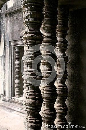 Angkor Wat temple columns