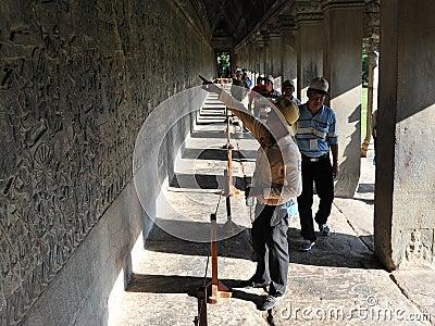 Angkor Wat Tour Editorial Stock Image